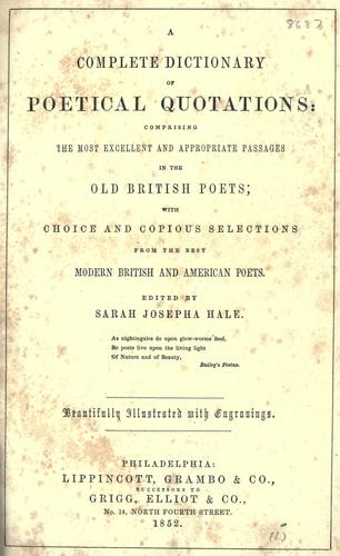 A complete dictionary of poetical quotations