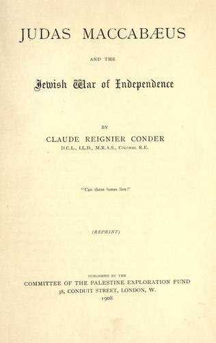 Judas Maccabaeus, and the Jewish war of independence.