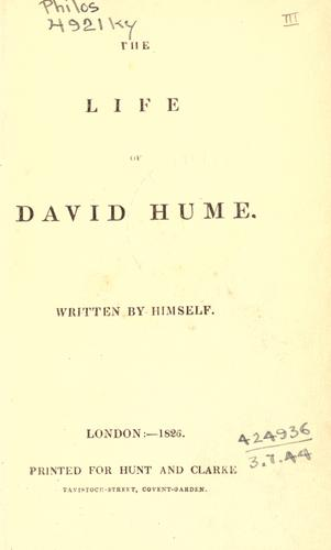 The life of David Hume by David Hume