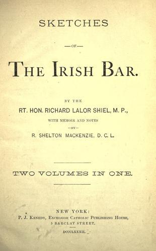 Sketches of the Irish bar