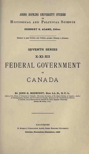Federal government in Canada